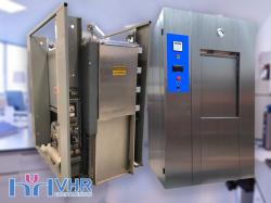 Autoclave Horizontal 2 portas com Fechamento Vertical Capacidade 360 litros